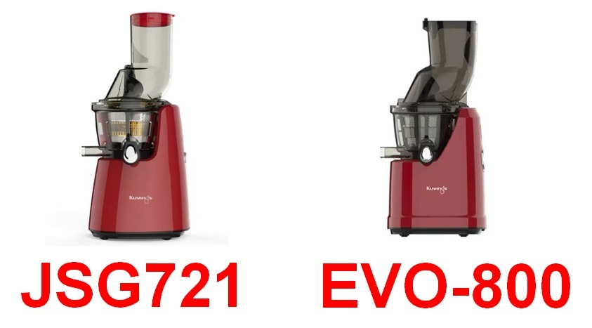 JSG721とEVO800の写真